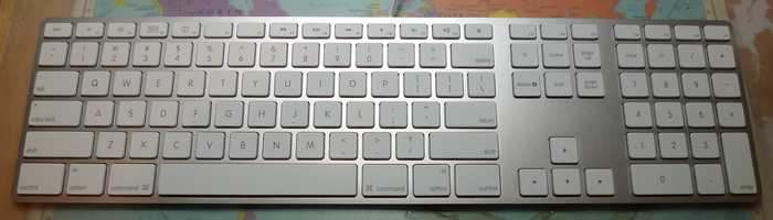 Apple Keyboard (A1242), introduced with the iMac revision in 2009.