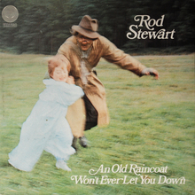 Rod Stewart – <cite>An Old Raincoat Won't Ever Let You Down</cite> album art