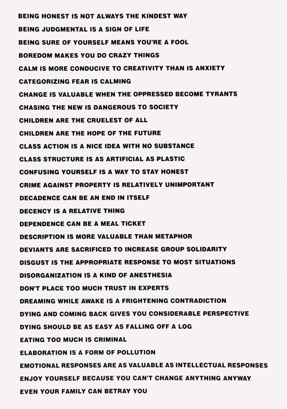 Truisms by Jenny Holzer, Between Bridges 2