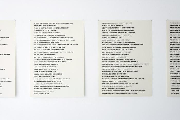 Truisms by Jenny Holzer, Between Bridges 3