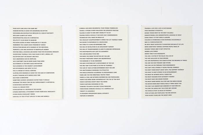 Truisms by Jenny Holzer, Between Bridges 5