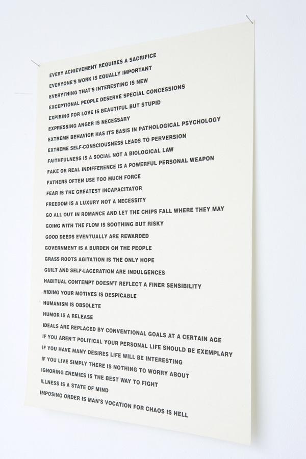 Truisms by Jenny Holzer, Between Bridges 6