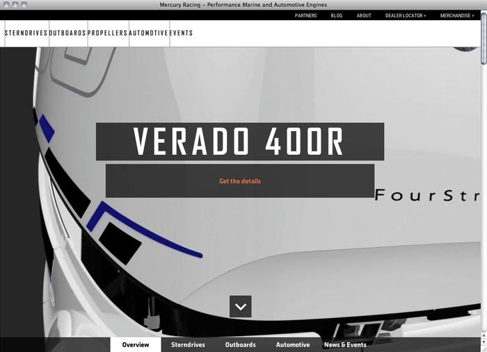Mercury Racing website 1