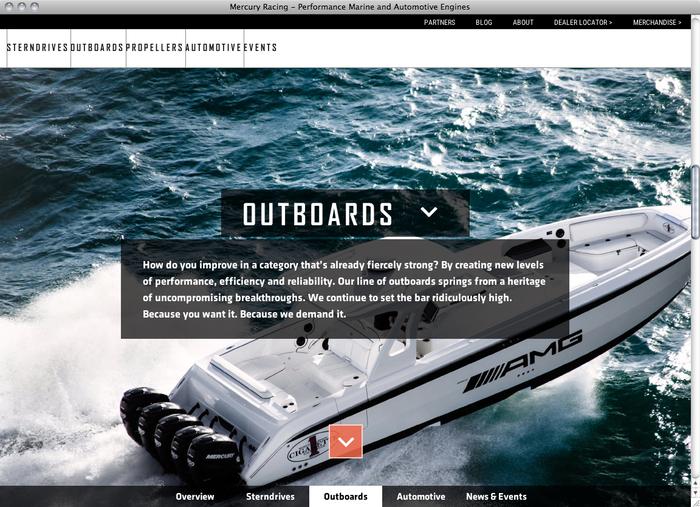 Mercury Racing website 2