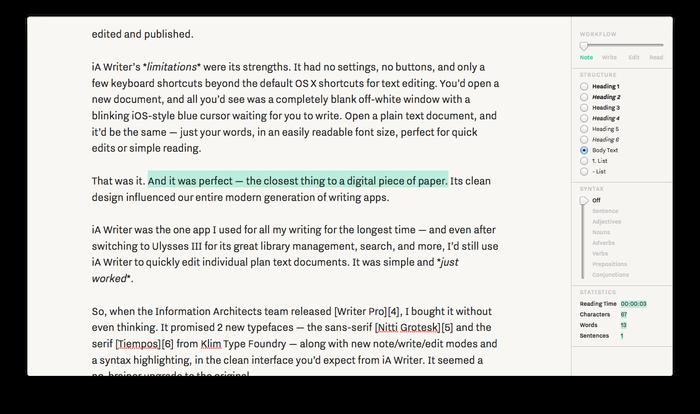 iA Writer Pro 2