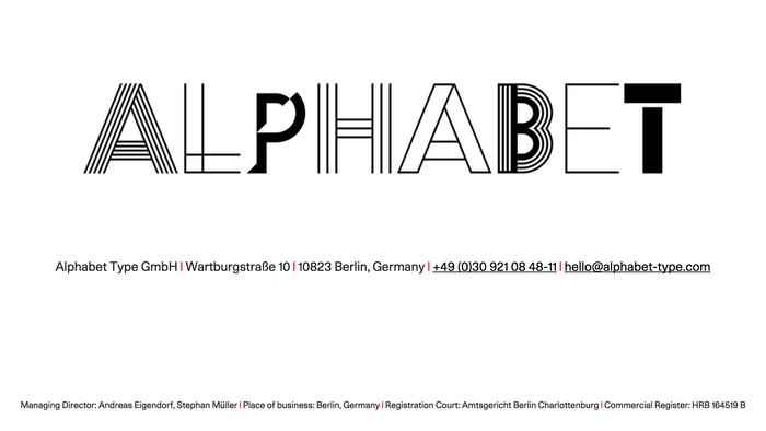 Alphabet Type logo and website (2015)