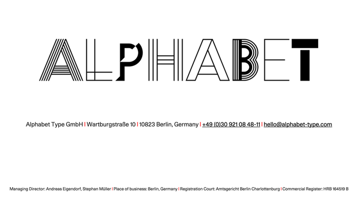 Alphabet Type logo and website (2015)