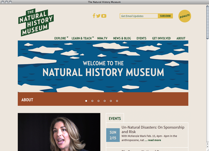 The Natural History Museum website 1