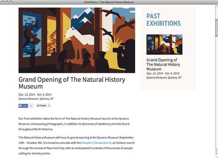 The Natural History Museum website 2