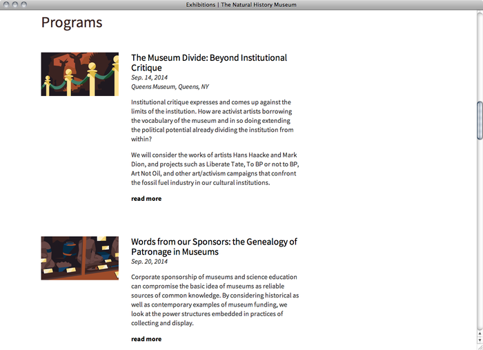The Natural History Museum website 3