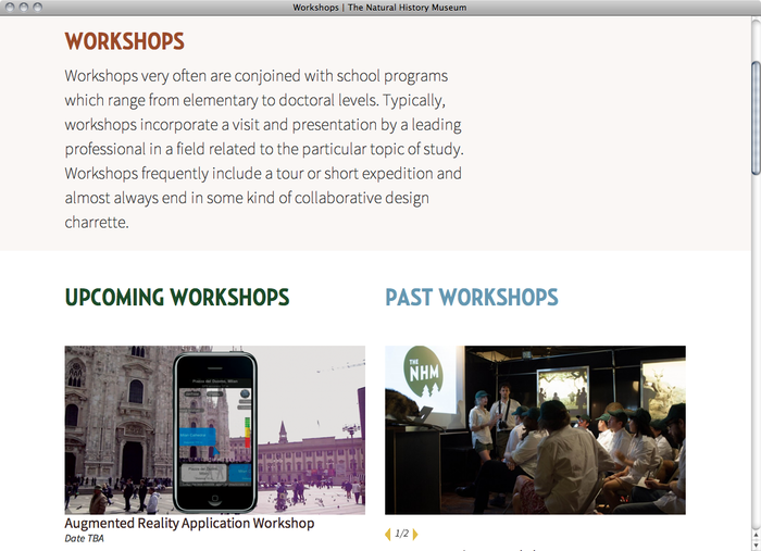 The Natural History Museum website 4