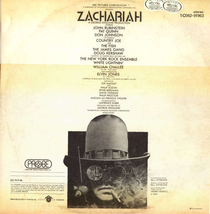 Zachariah: The First Electric Western 3