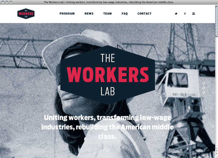 The Workers Lab website 1
