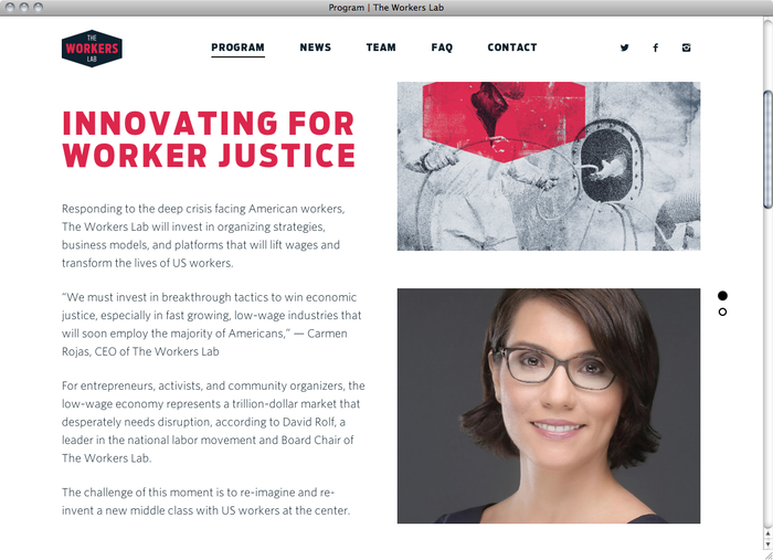 The Workers Lab website 3