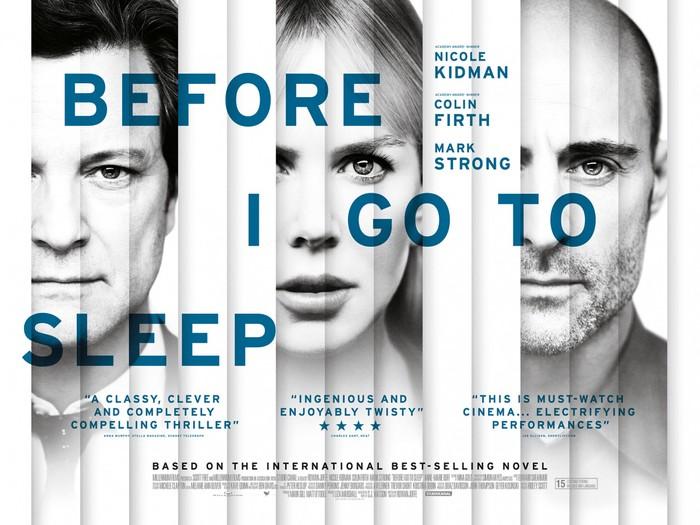 Before I Go To Sleep UK poster