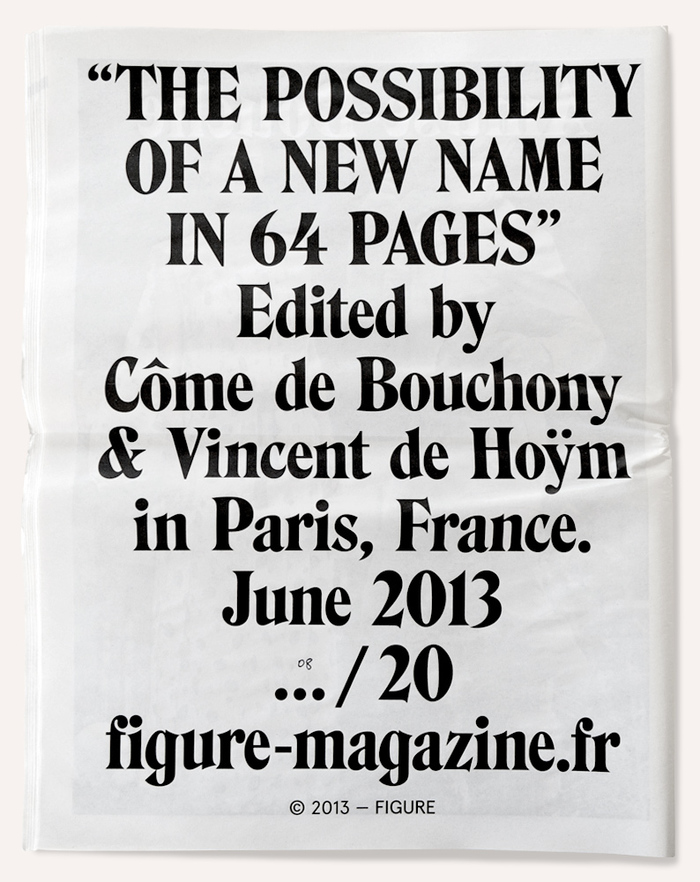 FIGURE: The Possibility of a New Name in 64 Pages 1