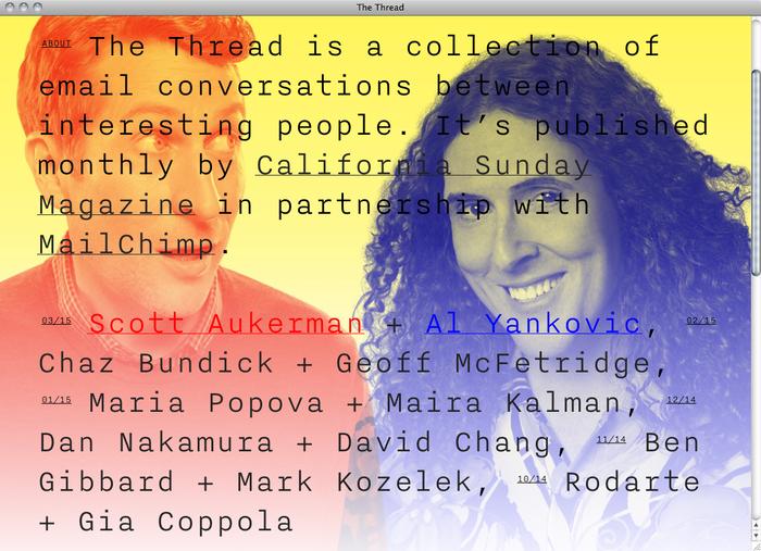 The Thread website 4