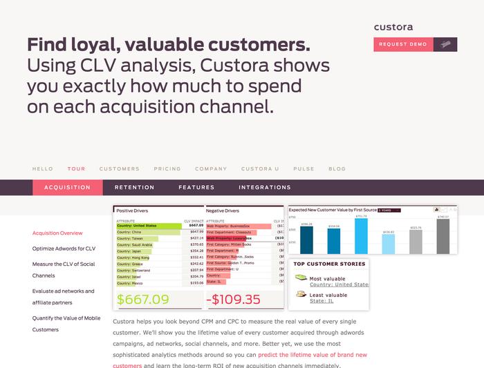 Custora website 6