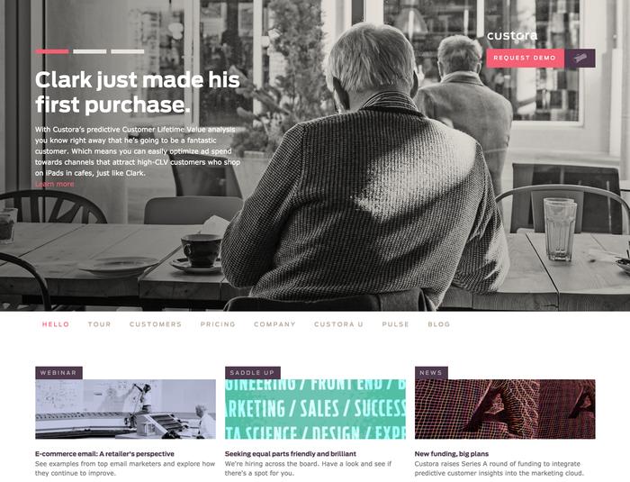 Custora website 7