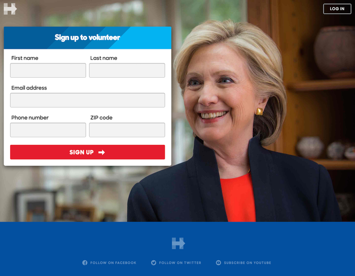 Hillary for America website and logo 2
