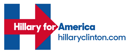 Hillary for America website and logo