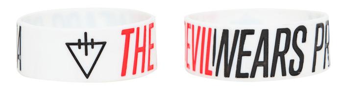 The Devil Wears Prada rubber bracelet at Hot Topic.