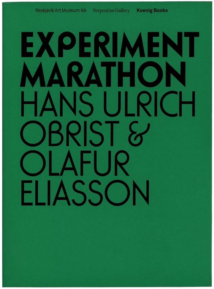 Experiment Marathon by Hans Ulrich Obrist & OlafurEliasson 1