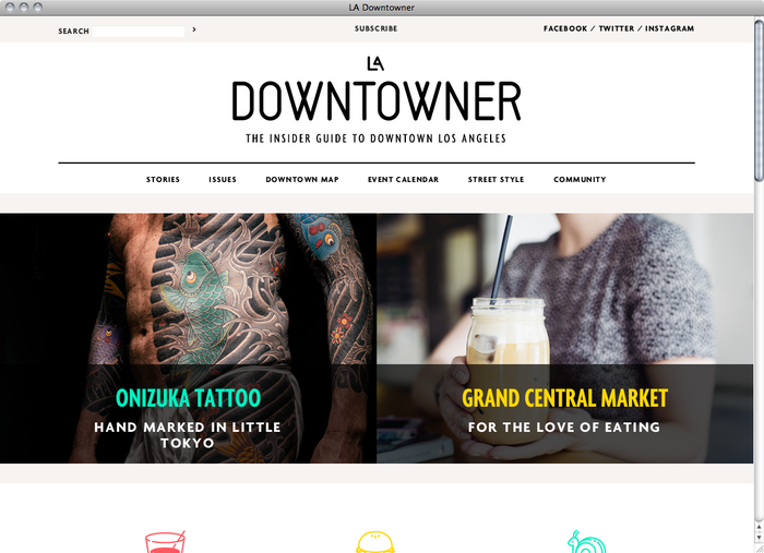 LA Downtowner website 1