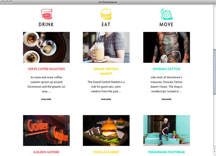 LA Downtowner website 2