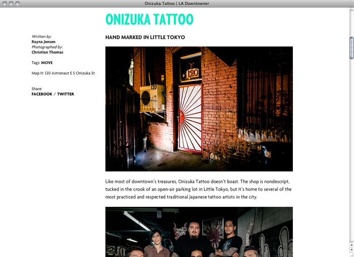 LA Downtowner website 3