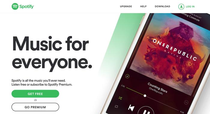 Spotify website (2015) 1