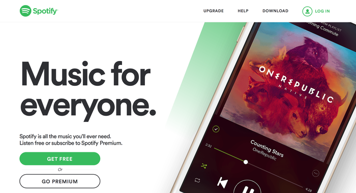 Spotify website (2015) 1