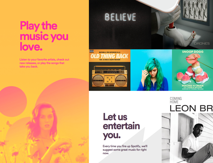 Spotify website (2015) 3