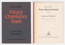 <cite>Neues Chorliederbuch</cite> by&nbsp;Hugo Distler, Bärenreiter-Ausgabe 1057