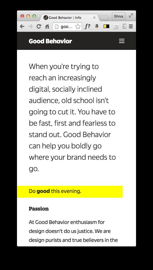 Good Behavior 7