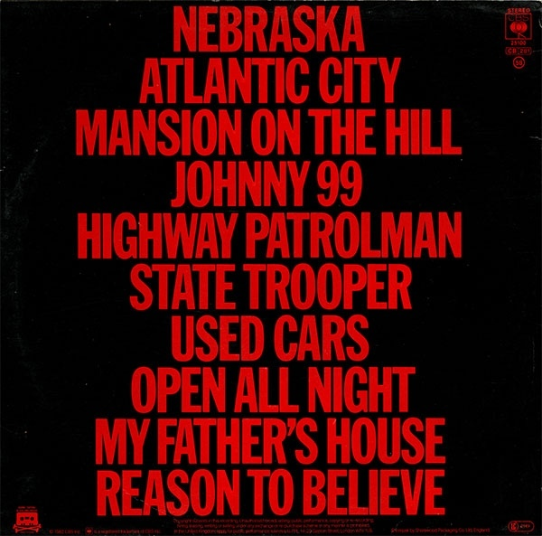 Bruce Springsteen – Nebraska album art 2