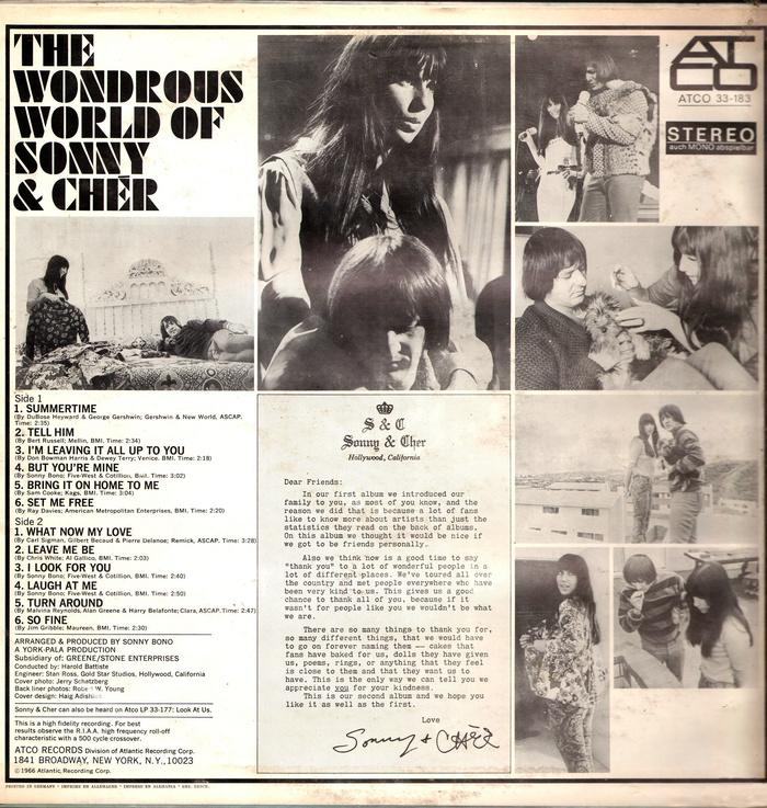 Sonny & Chér – The Wondrous World Of Sonny & Chér album art 2