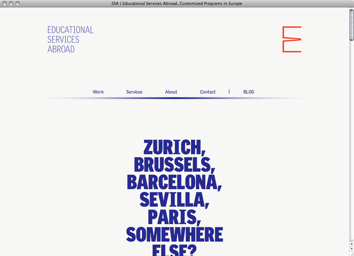 Educational Services Abroad website 1