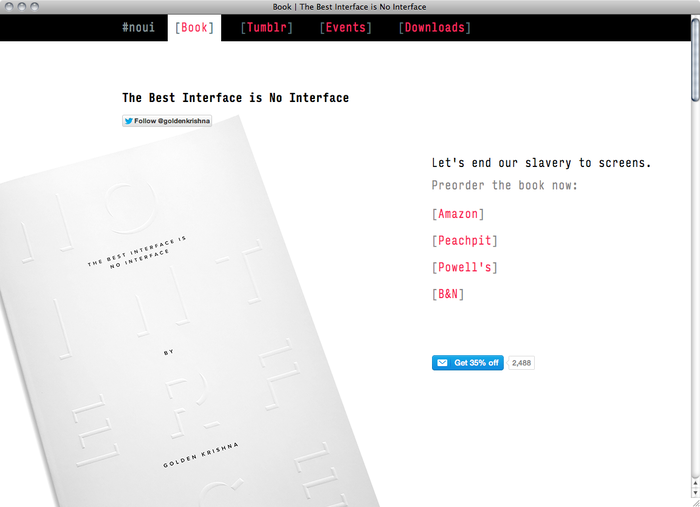 The Best Interface is No Interface website 1