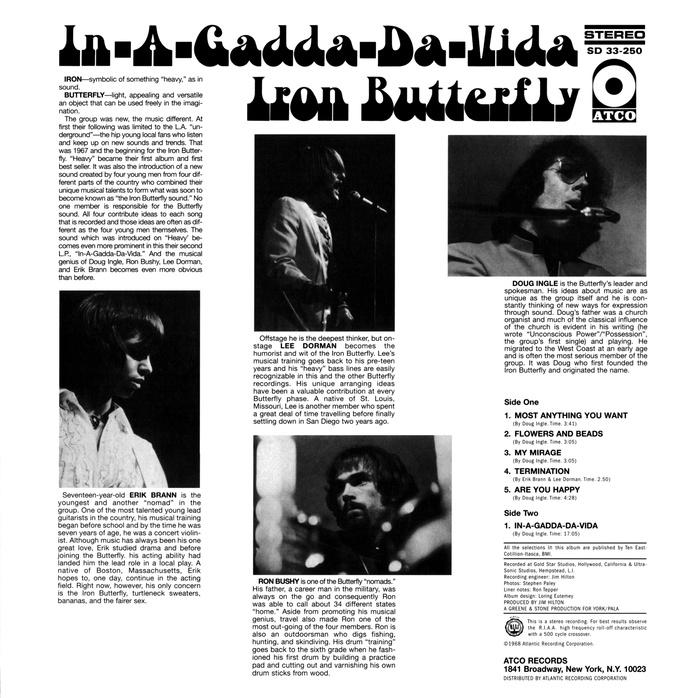 Iron Butterfly – In-A-Gadda-Da-Vida album art 2