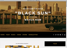 <cite>Death Cab For Cutie</cite> website