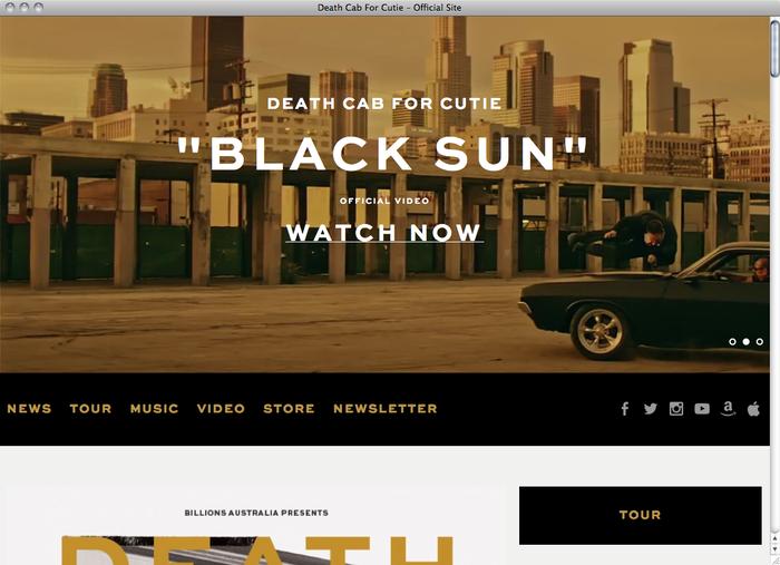 Death Cab For Cutie website 1