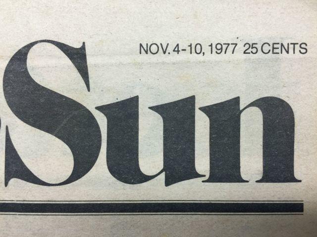 Pacific Sun, Nov. 1977 3