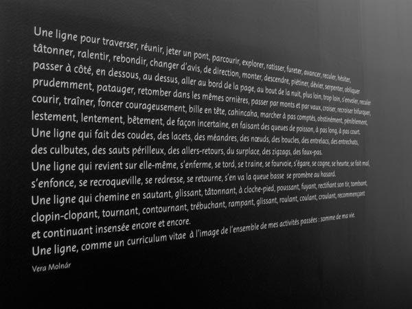 Une bréve histoire des lignes exhibition signage 6