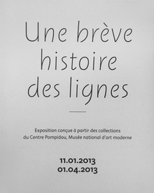 <cite>Une bréve histoire des lignes</cite> exhibition signage