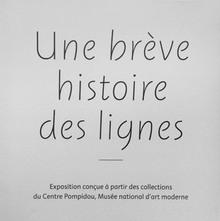 <cite>Une bréve histoire des lignes</cite> exhibition signs