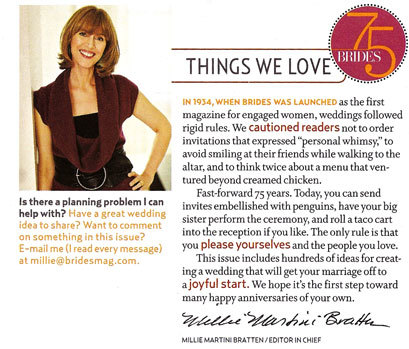 Brides Magazine, Interior Pages (2004 Redesign) 10