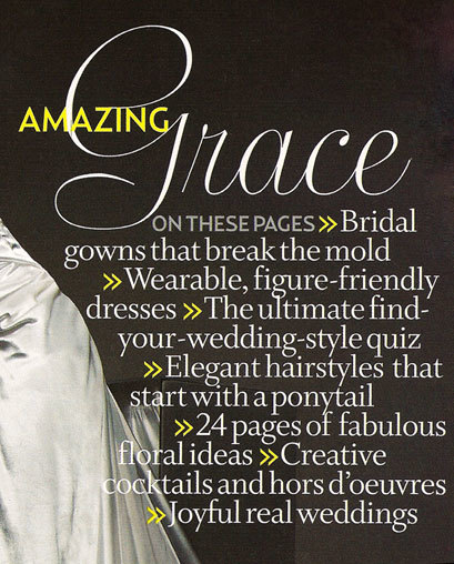 Brides Magazine, Interior Pages (2004 Redesign) 6