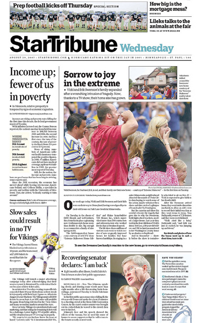 Minneapolis StarTribune – Front Pages 5