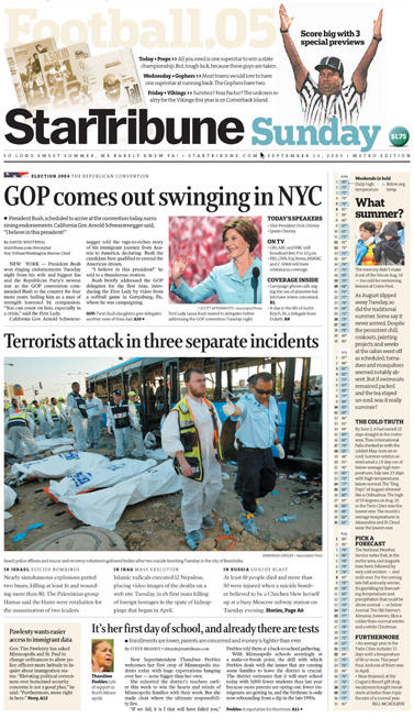 Minneapolis StarTribune – Front Pages 3